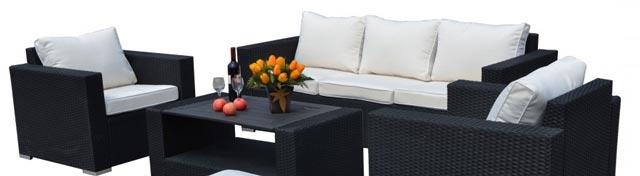 Lounge havemøbler i polyrattan